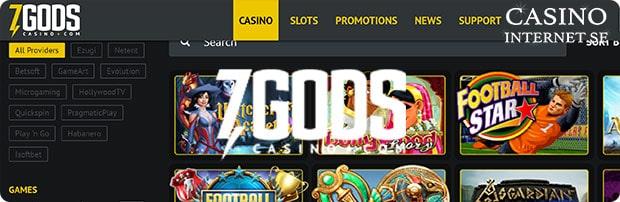 7Gods Casino Freespins