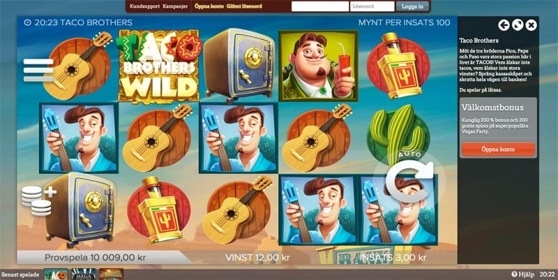 LeoVegas screenshot slots