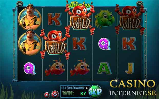 the angler slot free spins betsoft